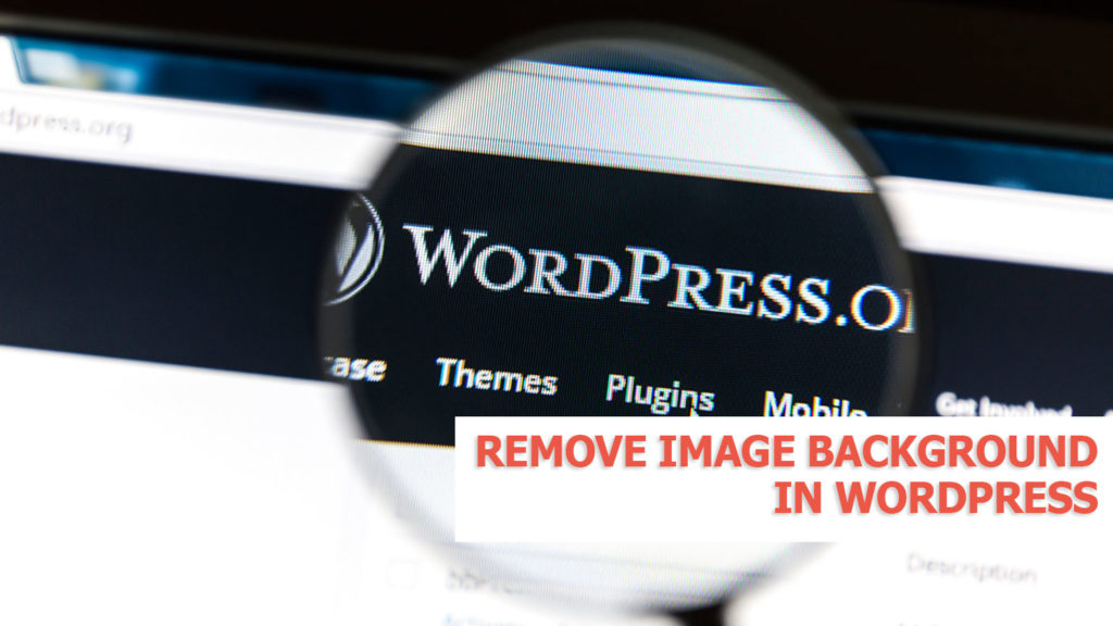 How to remove background in Wordpress