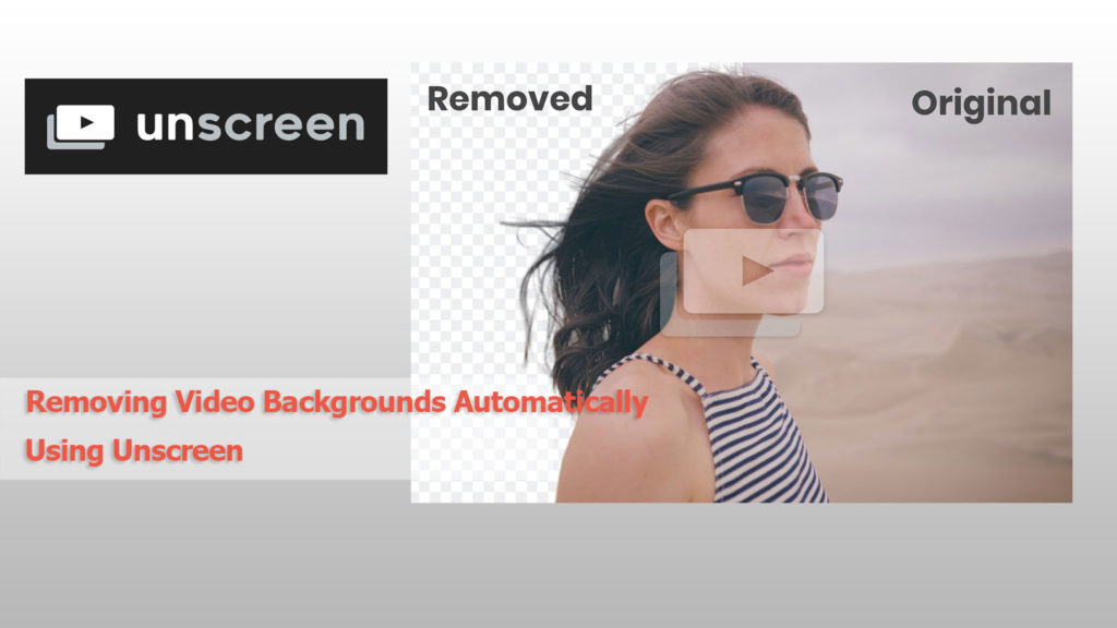 Removing Video Backgrounds Automatically Using Unscreen